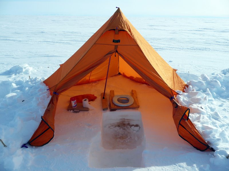 Our toilet tent. We keep the flaps open so the snow inside doesnu0027t melt! & The Toilet on the Ice | Ice Stories: Dispatches From Polar Scientists