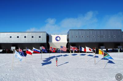 South Pole Station, Antarctica. Photo by Dwight Bohnet, courtesy of NSF.