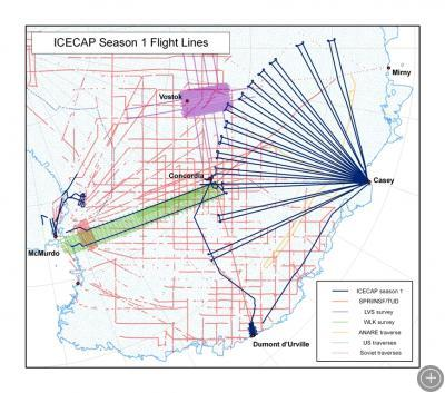 ICECAP season 1 flight lines.